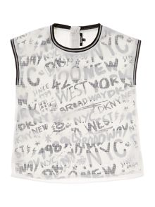 DKNY Girls Fancy fabric blouse