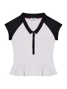 Hugo Boss Girls Peplum Polo Shirt