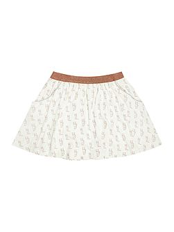 Girls Fox printed skirt