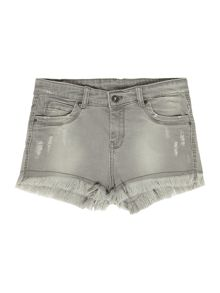 Une Fille Girls Grungy denim shorts