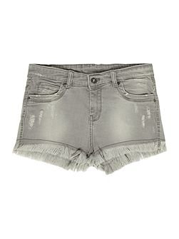 Girls Grungy denim shorts