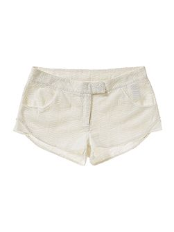 Girls Cotton broderie anglaise shorts