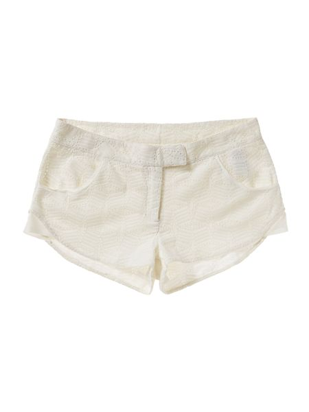 Une Fille Girls Cotton broderie anglaise shorts