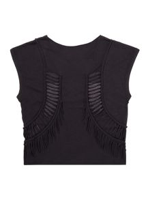 Une Fille Girls Grunge sleeveless t-shirt