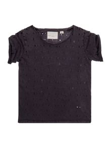 Une Fille Girls Hole detail t-shirt