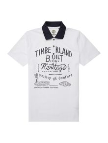 Boys Polo shirt with Timberland print