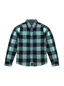 Boys Long sleeved checked shirt