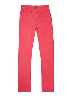 Girls Slim twill trousers