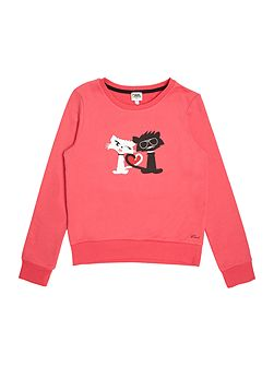 Girls French terry sweater