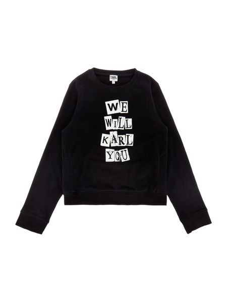 Karl Lagerfeld Boys Terry sweater