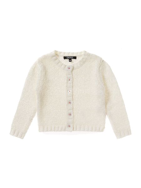 DKNY Baby girls Long sleeved knitted cardigan