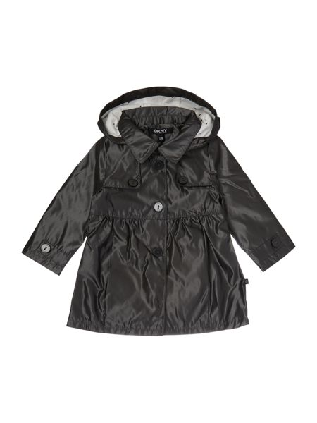 DKNY Baby girls Hooded trench coat