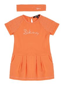 DKNY Baby girls Dress and headband set