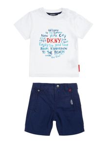 DKNY Baby boys T-shirt and shorts set