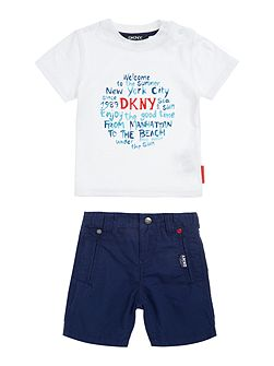 Baby boys T-shirt and shorts set