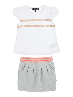 DKNY Baby girls T-shirt and skirt set