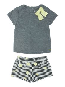 DKNY Baby girls T-shirt and shorts set
