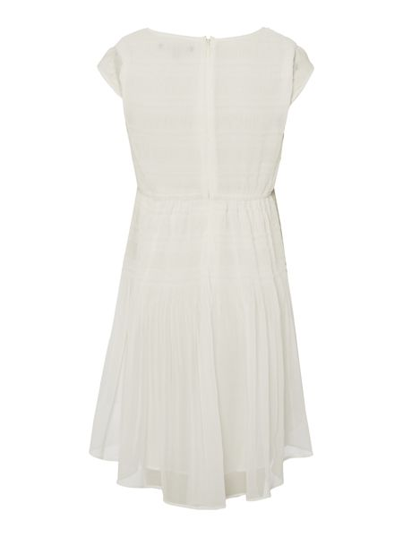 DKNY Girls Voile pleated dress