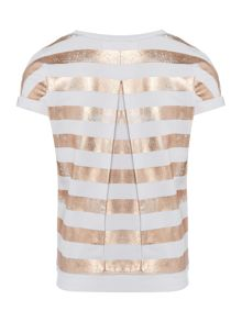 DKNY Girls Striped T-Shirt
