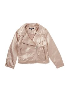 DKNY Girls Faux leather jacket