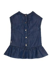 Baby Girls Printed Denim Dress