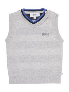 Hugo Boss Baby Boys Knitted Sleeveless Cardigan