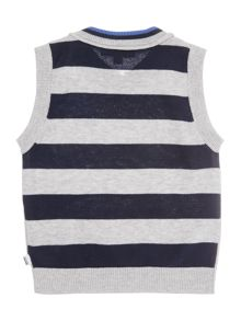 Baby Boys Knitted Sleeveless Cardigan