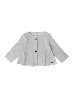 Baby Girls Cotton And Lurex Cardigan