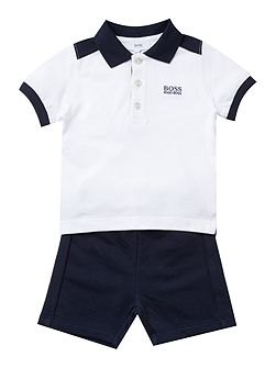 Baby Boys Set Of Polo And Bermuda