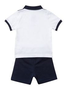 Hugo Boss Baby Boys Set Of Polo And Bermuda