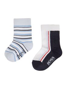Baby Boys Two Pair Of Socks Set