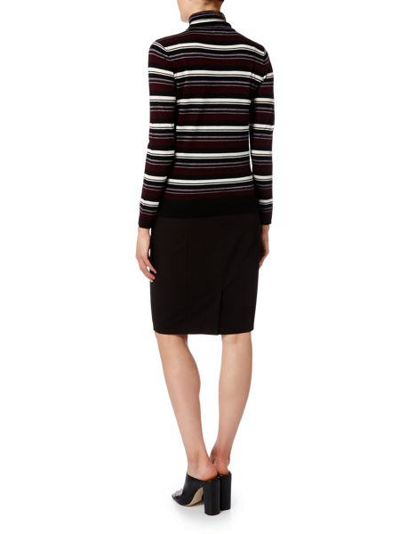 Linea Stripe roll neck jumper