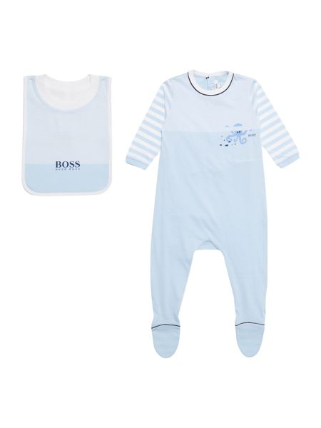 Hugo Boss Baby Boys Set Of Jersey Pyjama And Bib