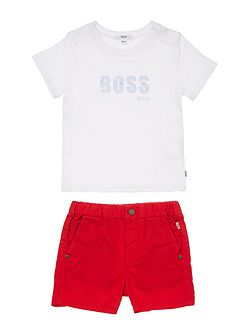 Baby Boys Set Of T-Shirt And Shorts