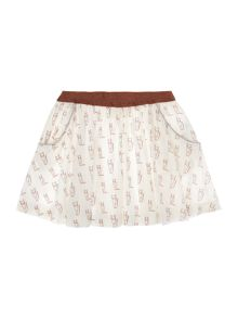 Une Fille Girls Fox printed skirt