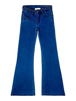 Girls High waisted fit denim trousers