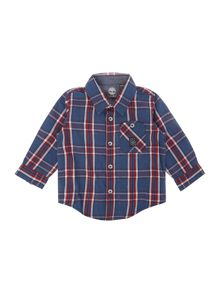 Baby boys Checked long sleeved shirt