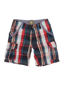 Timberland Boys Checked bermuda shorts