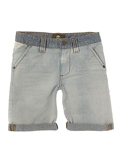 Boys Bermuda shorts with bleach effect