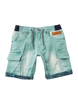 Boys Bermuda shorts with used effect