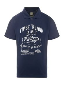 Timberland Boys Polo shirt with Timberland print