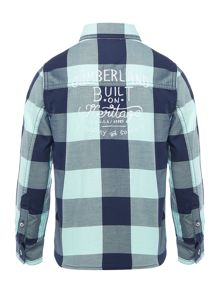 Timberland Boys Long sleeved checked shirt
