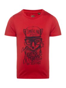 Timberland Boys Slim fit jersey t-shirt