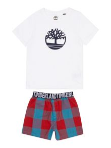 Timberland Boys Set of cotton jersey boxer shorts