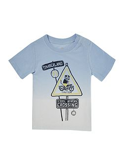Baby boys Short sleeved dip dye t-shirt