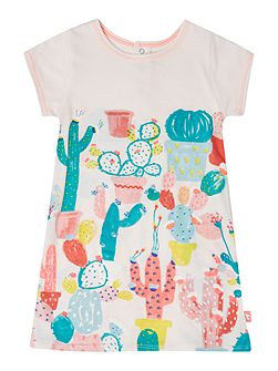 Baby girls Pale Pink Cactus Print Dress