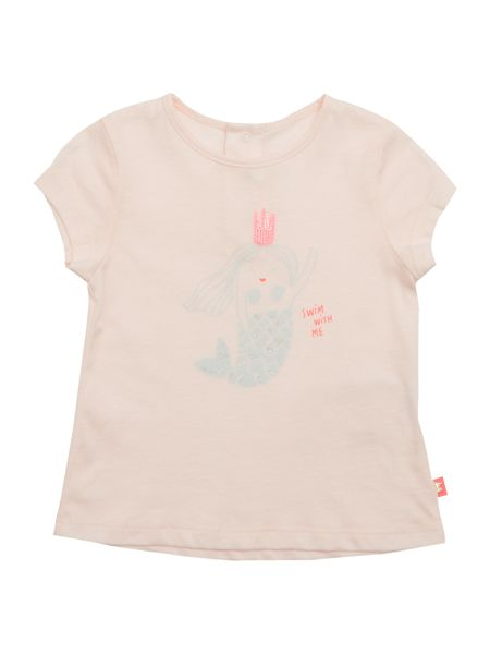 Billieblush Baby girls Pink Mermaid Print T-Shirt