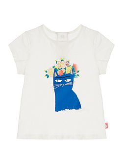 Baby girls T-Shirt with Cat Print