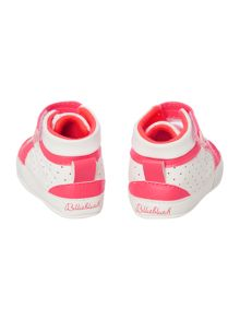 Baby girls perforated high tops
