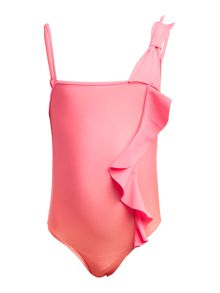 Billieblush Girls Swimsuit with Bow and Ruffles